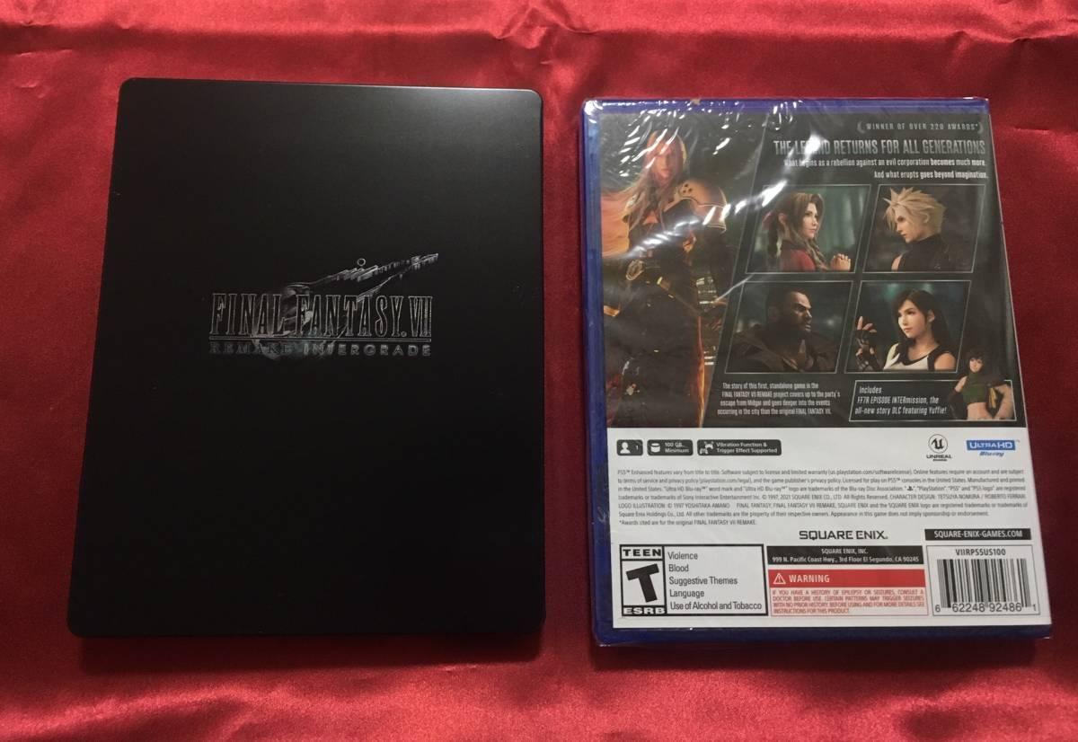 【新品】ファイナルファンタジーVII リメイク インターグレード スチールブック Final Fantasy 7 Remake Intergrade Steelbook PS5