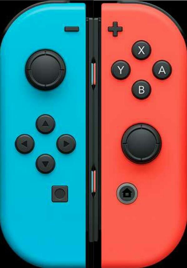 【ストラップ付き】Nintendo Switch Joy-Con (L)(R) ネオンブルーレッド