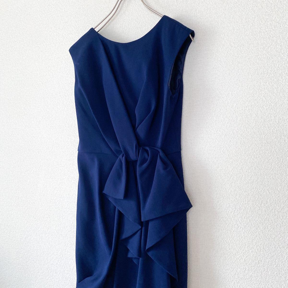 グレースコンチネンタル / 紺ワンピース ドレス 結婚式 二次会