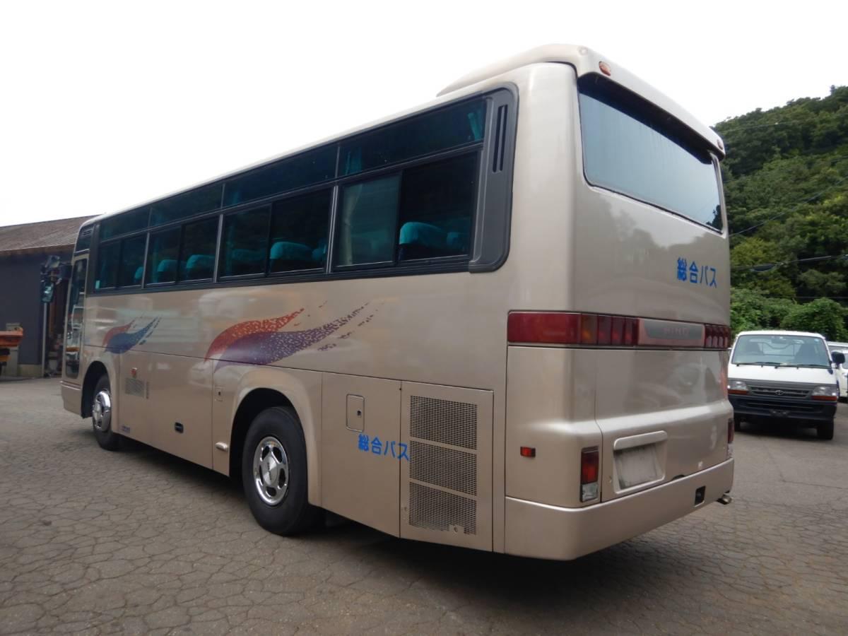 「【CH14783】H10年 日野 セレガ 42人乗りバス 観光バス 送迎バス 自動スイングドア 実走29万㌔台 MT6速 中型バス 税込!」の画像3