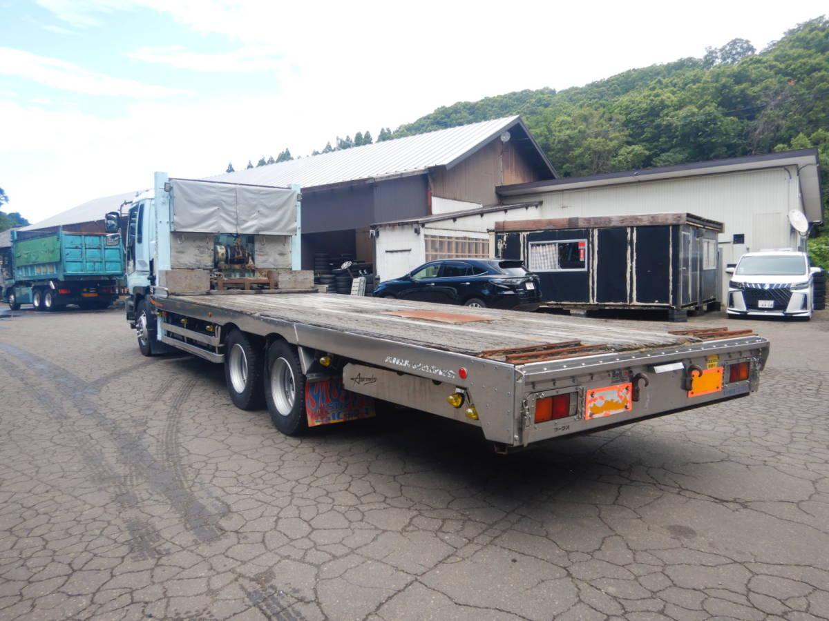「【CH16536】H15年 いすゞ ギガ アイバワークス セルフ ハイジャッキ ロングジャッキ 重機運搬車 ウィンチ アユミ付 7速MT 積載12200kg 」の画像3