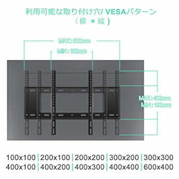 HIMINO テレビ壁掛け金具 32~65インチ LED液晶テレビ対応 左右移動式 上下角度調節可能 耐荷重50kg LCD_画像3