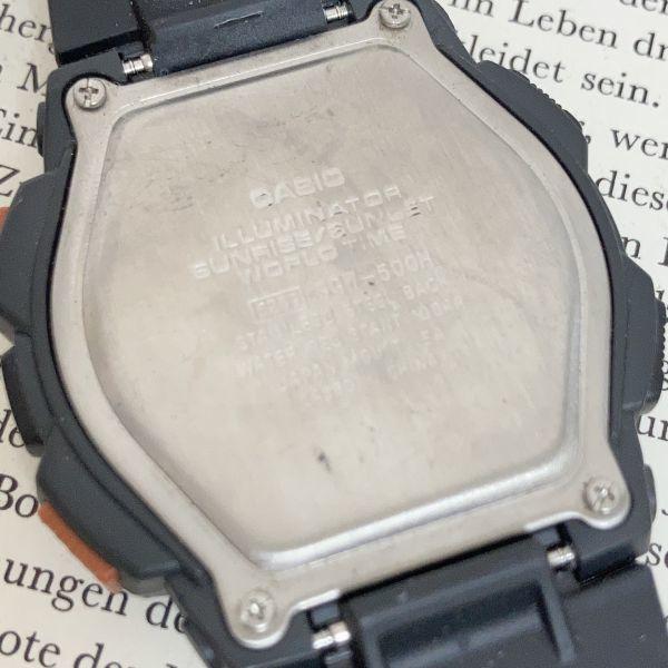 美品 ★CASIO THERMOMETER デジアナ 多機能 メンズ 腕時計 ★カシオ SGW-500H 3針 アラーム クロノ タイマー ブラック 稼動品 F5076_画像9