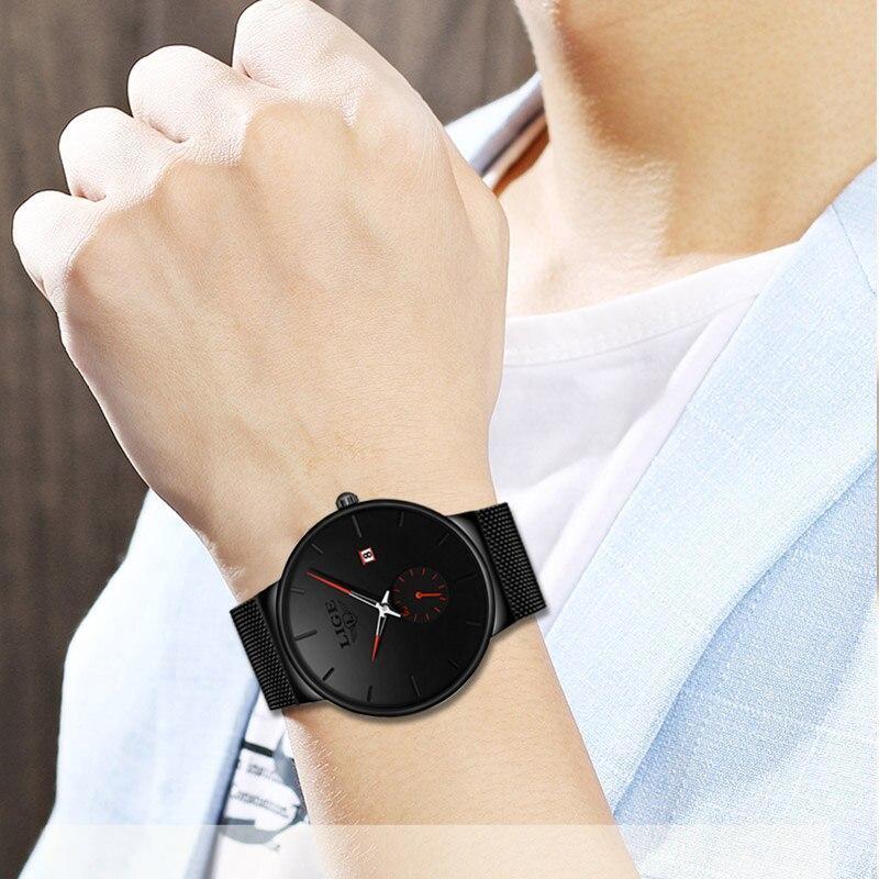 安心LIGE 高級ブランド腕時計男性ギフトファッションスポーツミリタリークォーツ腕時計メンズフルスチール防水時計男性レロジオ Masculino_画像6