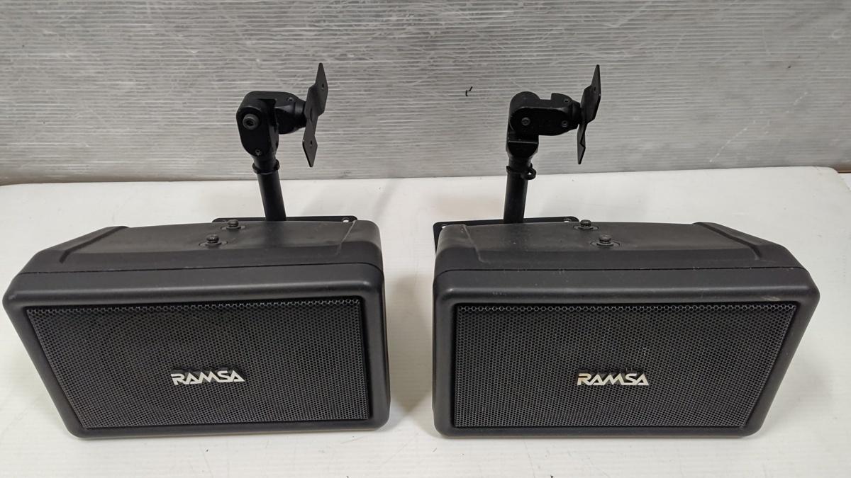 RAMSA ラムサ WS-A10-K フルレンジ コンパクトスピーカーペア ブラケット付