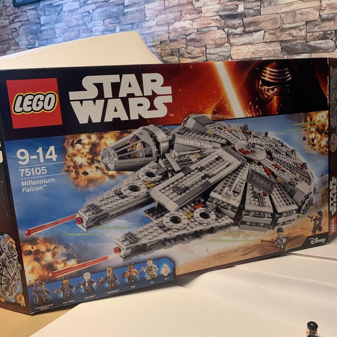 LEGO レゴ スターウォーズ 75105 ミレニアムファルコン 箱説明書付き_画像9
