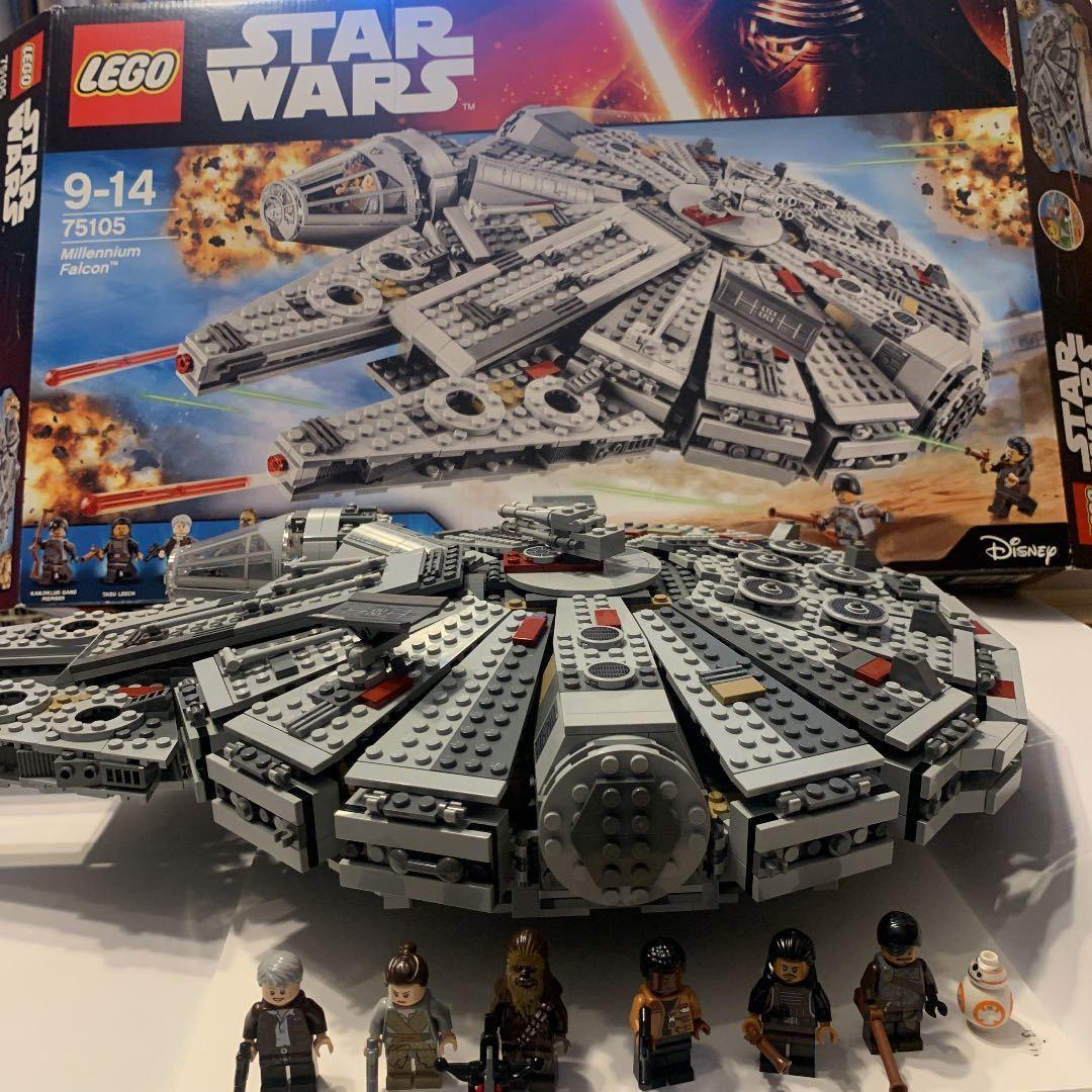 LEGO レゴ スターウォーズ 75105 ミレニアムファルコン 箱説明書付き_画像1