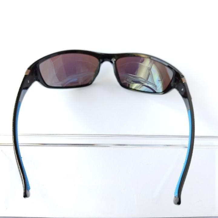 紫外線カット ミラータイプ 超軽量偏光スポーツサングラス ダークブルー アウトドア キャンプ フィッシング ツーリング  男女兼用