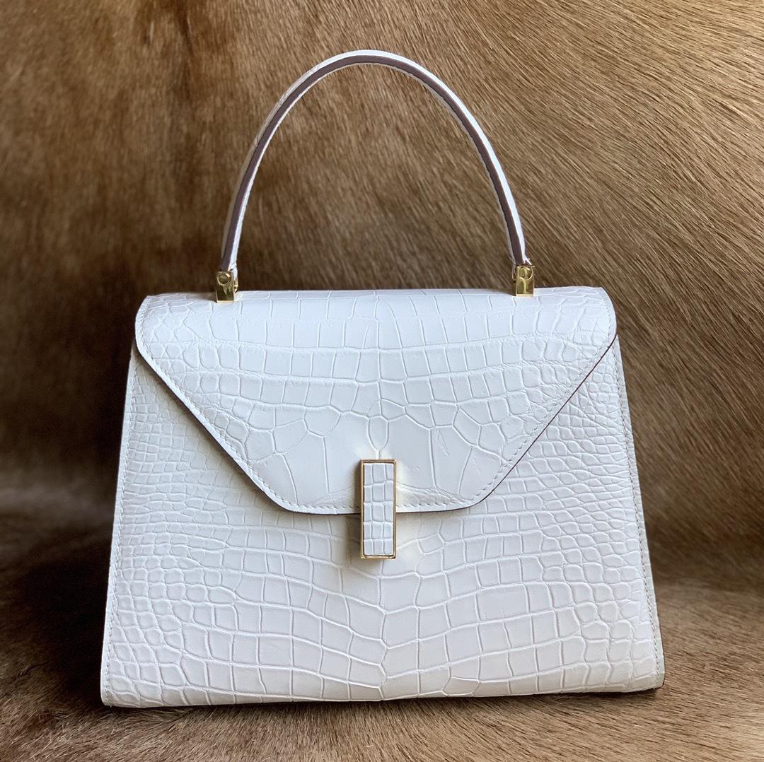 美品 クロコダイル ワニ革 ハンドバッグ トートバッグ レディース鞄 ゴールド金具 手提げ バッグ ショルダーバッグ 可愛い かばん 白_画像2