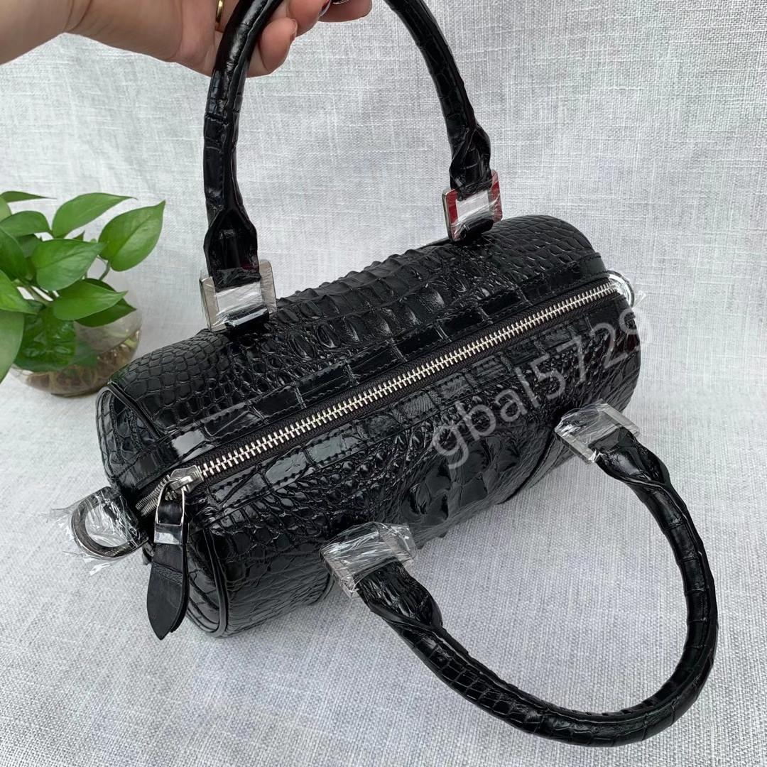 シャムクロコダイル ワニ革本物 本革 レザー 2way 斜め掛け ショルダーバッグ トート/手提げ 鞄 レディース ハンドバッグ 色選択可能 _画像4