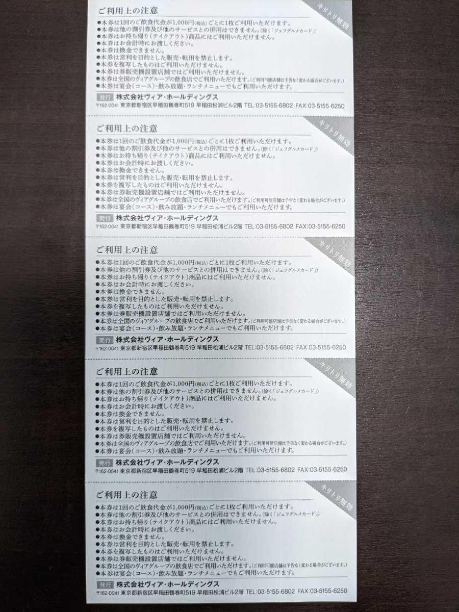 ヴィアホールディングス株主優待券(250円100枚 25,000円分)_画像3