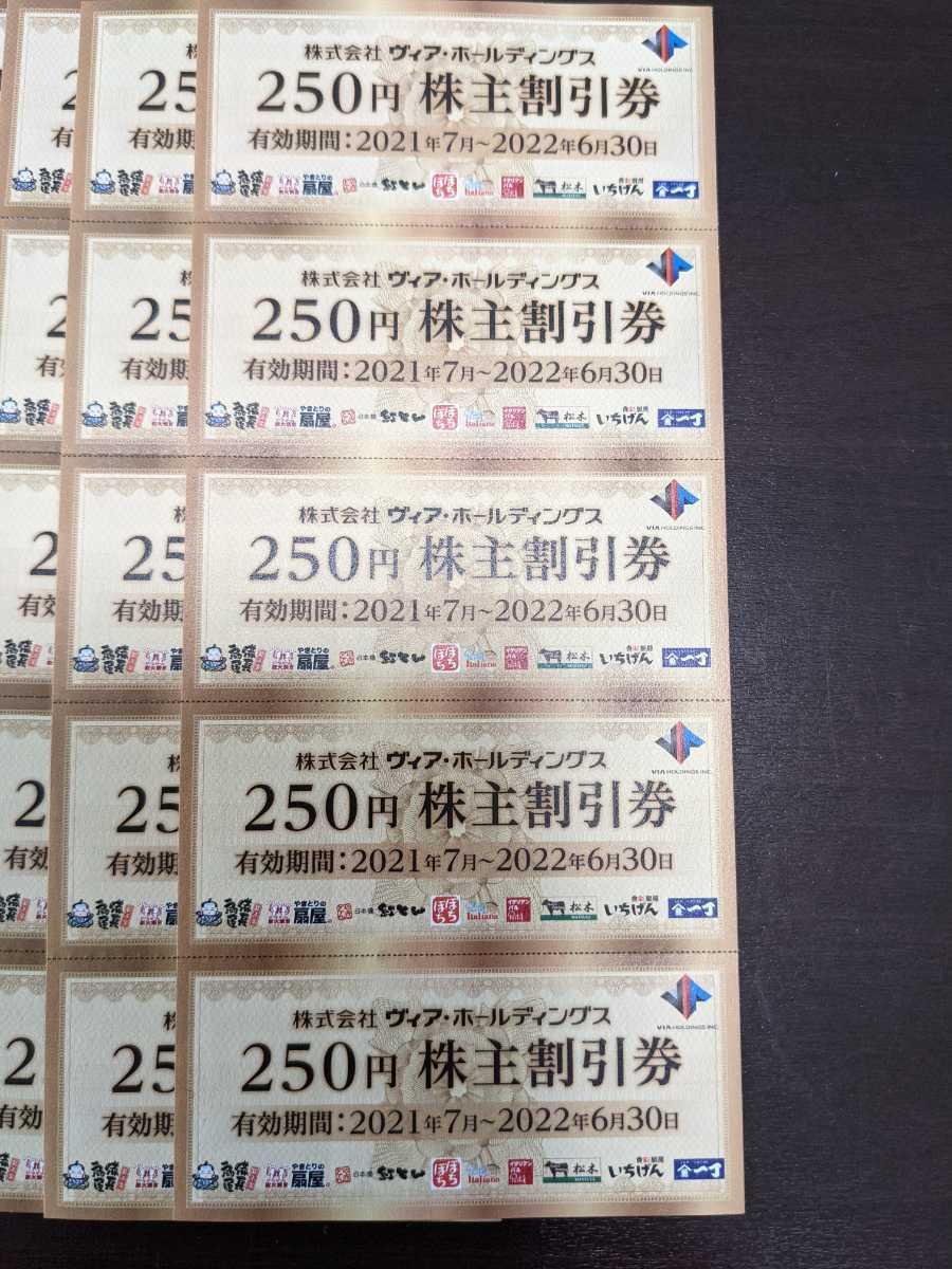 ヴィアホールディングス株主優待券(250円100枚 25,000円分)_画像1