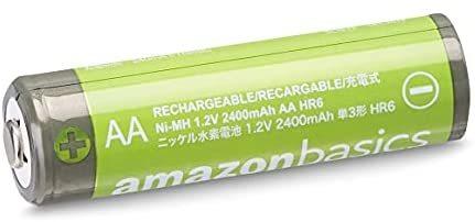 Amazonベーシック 充電池 高容量充電式ニッケル水素電池単3形8個セット (充電済み、最小容量 2400mAh、約500回使用可能)_画像3
