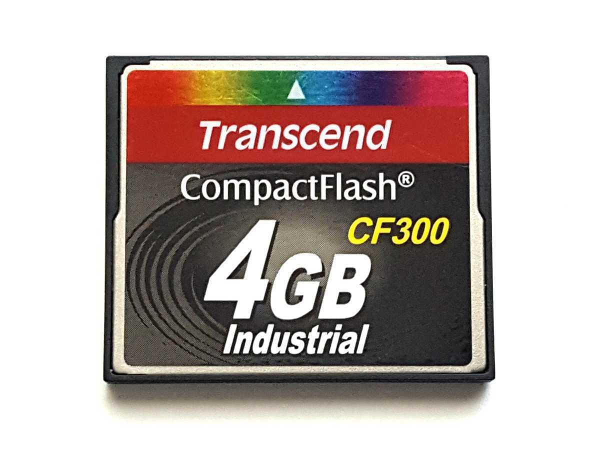 ☆美品☆ CFカード 4GB トランセンド 産業用 Transcend Industrial コンパクトフラッシュ CompactFlash Card_画像1
