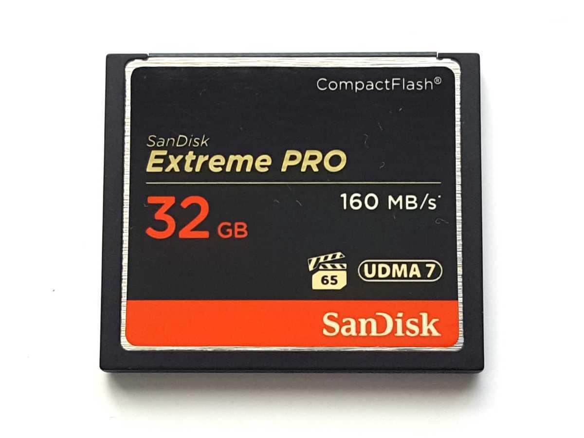【残り1枚】☆美品☆ CFカード 32GB 1066x サンディスク エクストリームプロ SanDisk Extreme PRO コンパクトフラッシュ CompactFlash Card_画像1
