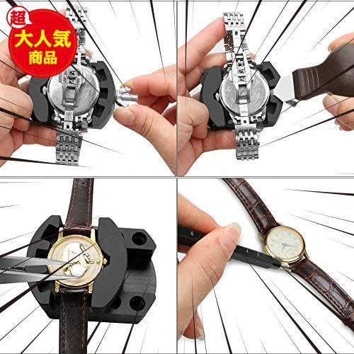 時計修理 電池交換 時計工具 腕時計ベルト調整 バンド調整 時計道具セット 腕時計修理工具 収納ケース付き 時計用工具キット_画像5