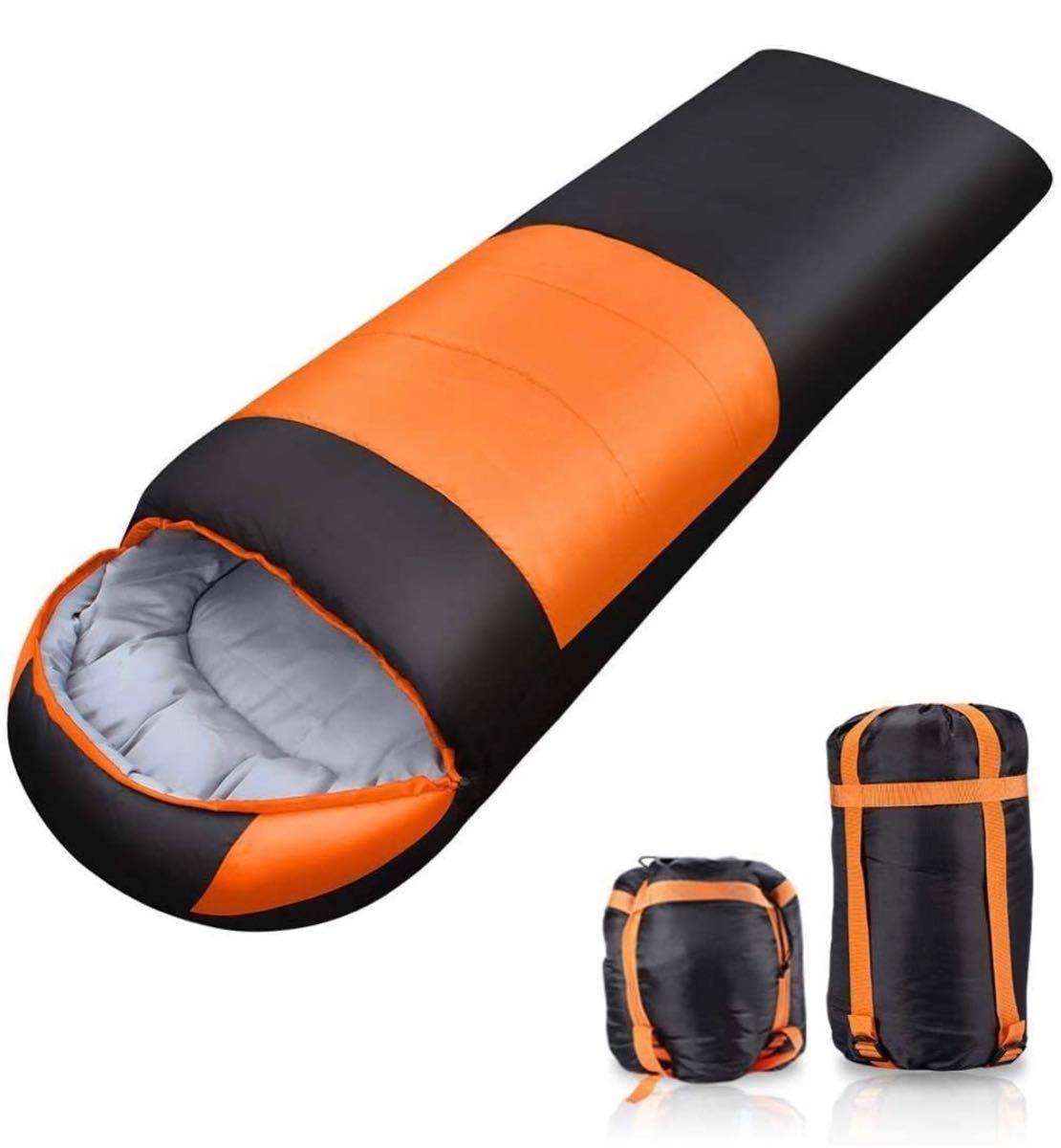 寝袋 シュラフ 防水シュラフ 封筒型 軽量 保温 コンパクト アウトドア キャンプ 登山 1.1kg 寝袋 春用 夏用