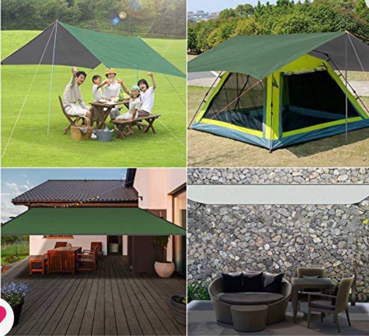防水タープ タープテント サイドシート 軽量 高耐水加工 紫外線カット 遮熱 屋外 キャンプ