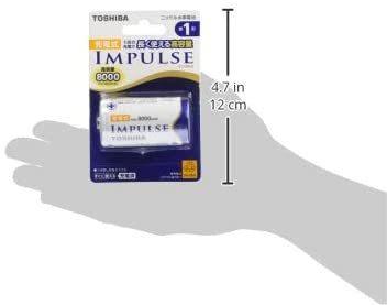 TOSHIBA ニッケル水素電池 充電式IMPULSE 高容量タイプ 単1形充電池(min.8,000mAh) 1本 TNH-1_画像6