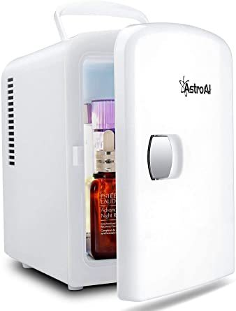 ホワイト AstroAI 冷蔵庫 小型 ミニ冷蔵庫 小型冷蔵庫 冷温庫 保温 冷温庫 4L 小型でポータブル 化粧品 家庭 車載_画像1