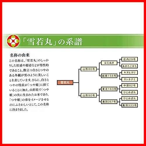 【精米】 山形県産 白米 雪若丸 5kg 令和2年産_画像6