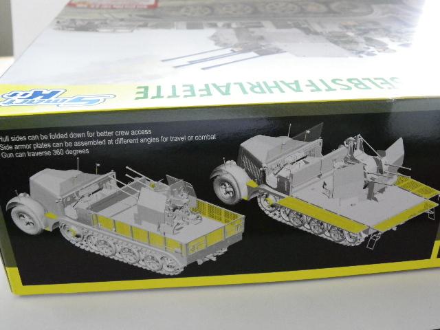 サイバーホビー 1/35 Sdkfz.7/1 2cm 四連装対空砲搭載 8トン ハーフトラック 初回限定仕様 _画像5