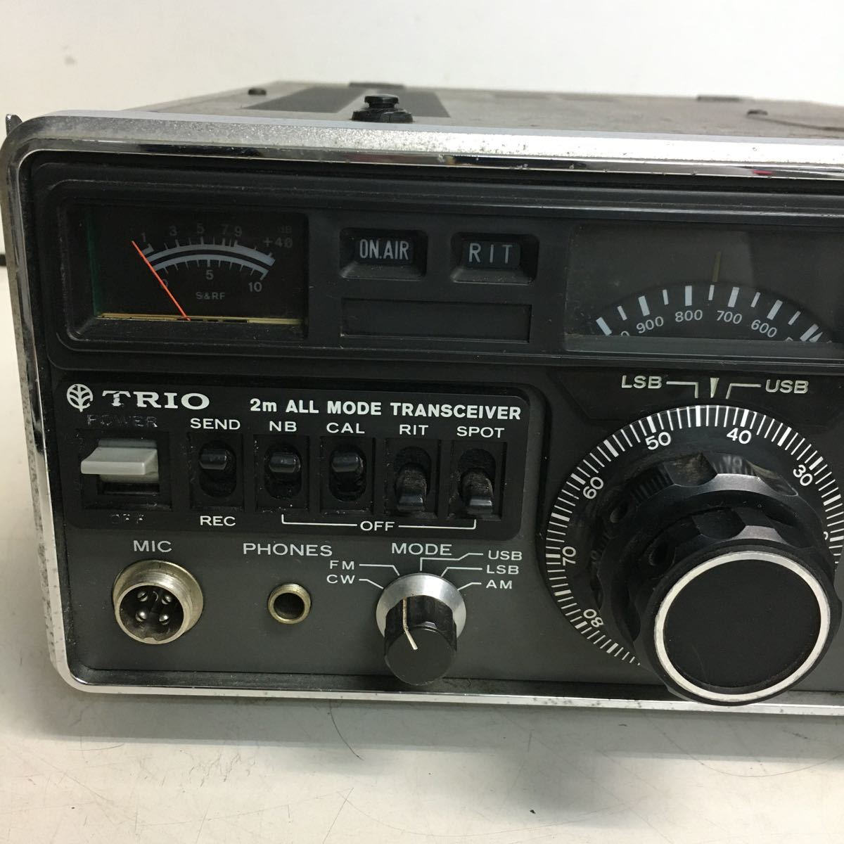 E066 TRIO トリオ TS-700 トランシーバー アマチュア無線機/本体のみ ジャンク品_画像7