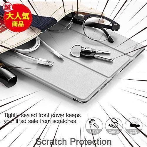 グレー ESR iPad Mini 5 2019 ケース 軽量 薄型 PU レザー スマート カバー 耐衝撃 傷防止 クリア ハ_画像8