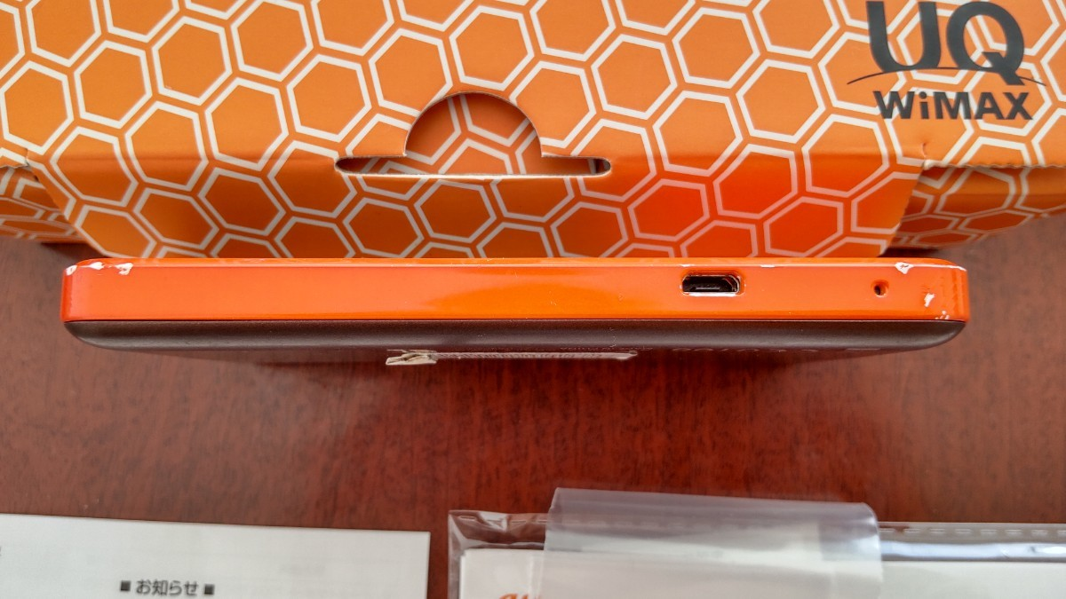 Speed Wi-Fi NEXT W03 オレンジ