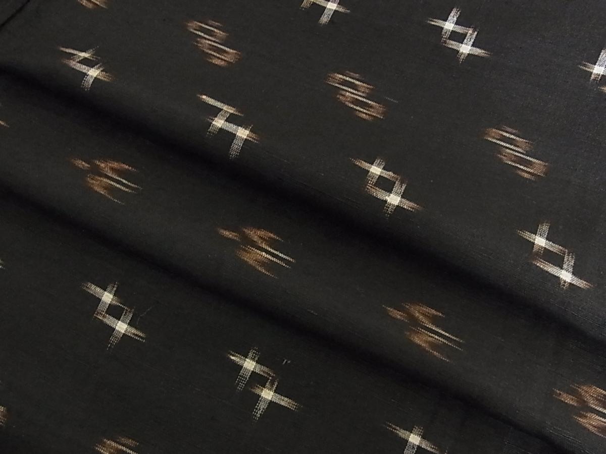 花美人■国指定重要無形文化財 本場久米島紬 単衣 手織 逸品 ic2366