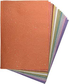 金銀振り B4判 【.co.jp 限定】和紙かわ澄 日本の色 もみ和紙 金銀振り B4 約25.7×36_画像1