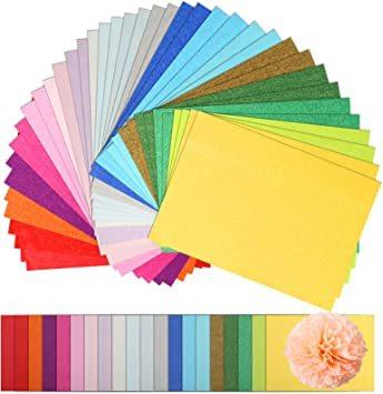 カラフル NALER 薄葉紙 200枚 包装紙 297mm*210mm 手芸用 カラフル 20色 A4 ラッピング ペーパー プ_画像1