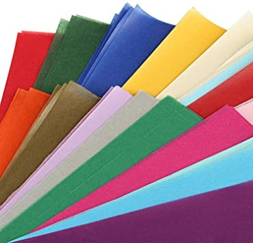 カラフル NALER 薄葉紙 200枚 包装紙 297mm*210mm 手芸用 カラフル 20色 A4 ラッピング ペーパー プ_画像3