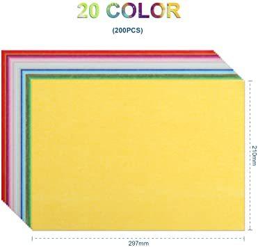 カラフル NALER 薄葉紙 200枚 包装紙 297mm*210mm 手芸用 カラフル 20色 A4 ラッピング ペーパー プ_画像2