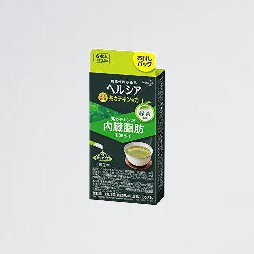 新品 目玉 茶カテキンの力 【機能性表示食ヘルシア G-ZN 緑茶風味 スティック(内臓脂肪が気になる方に)【マイカップヘルシア】×6本_画像1