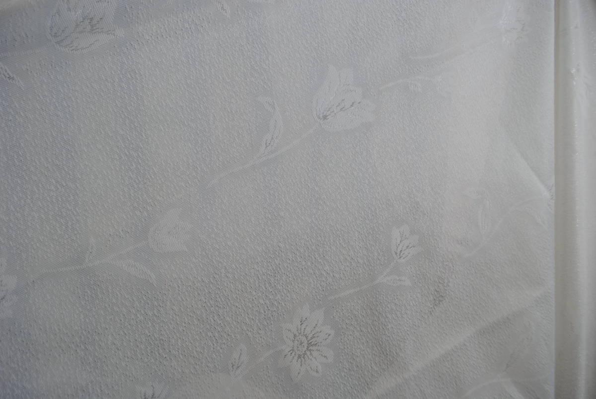 そ749●カーテンセット 4枚●レースカーテン/ストライプカーテン/花柄/ブルー/遮光/タッセル付き/掃き出し窓/アラベスク/インテリア_画像6