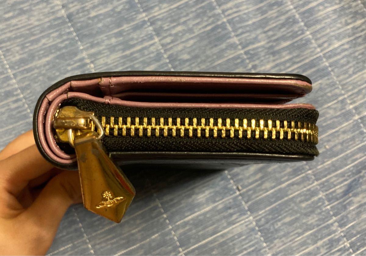 ヴィヴィアンウエストウッド 長財布 Vivienne Westwood 黒 財布 ヴィヴィアン財布