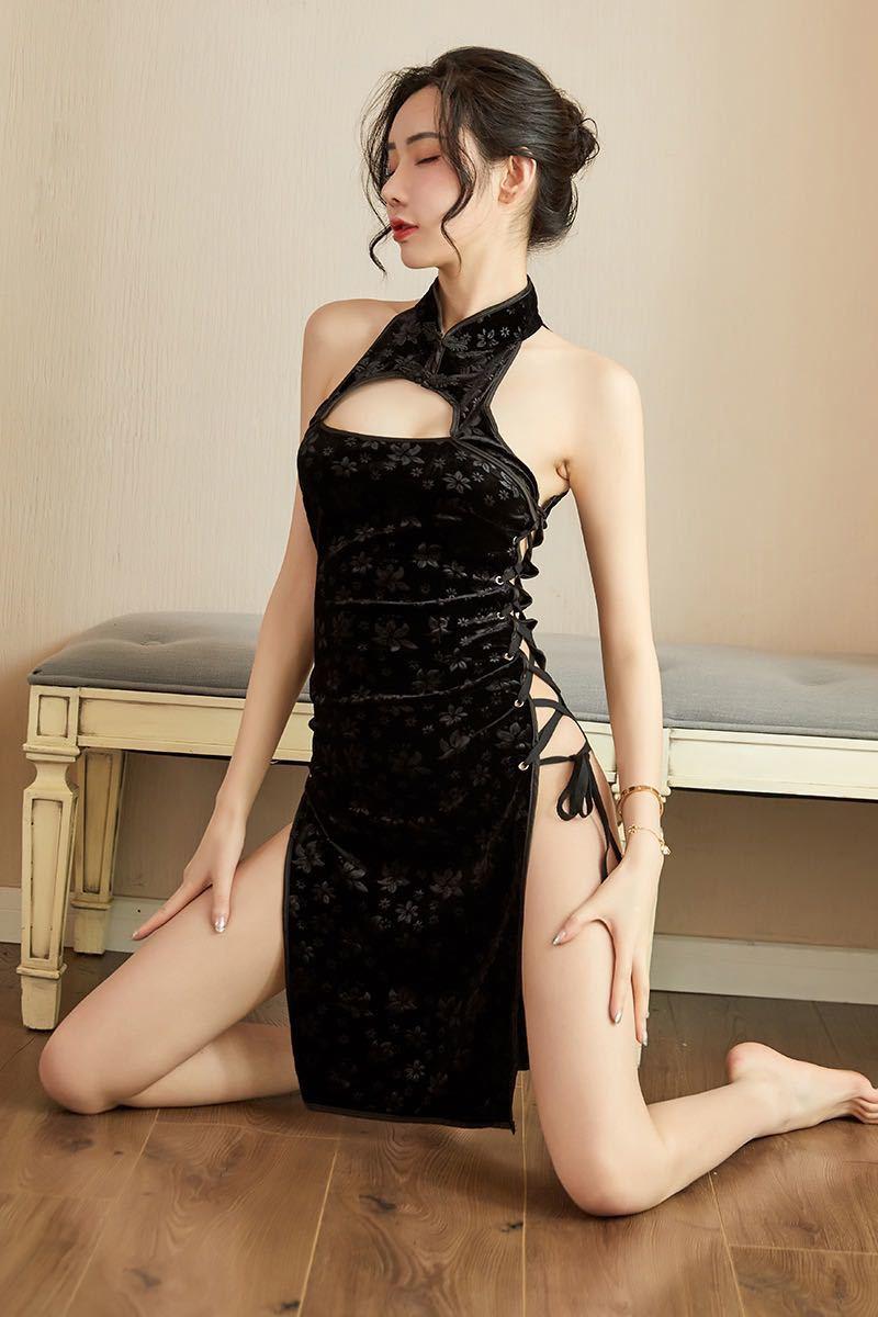 チャイナドレス sexy ベビードール コスプレ衣装 ボディストッキング コスプレ セクシー エロ可愛いw158