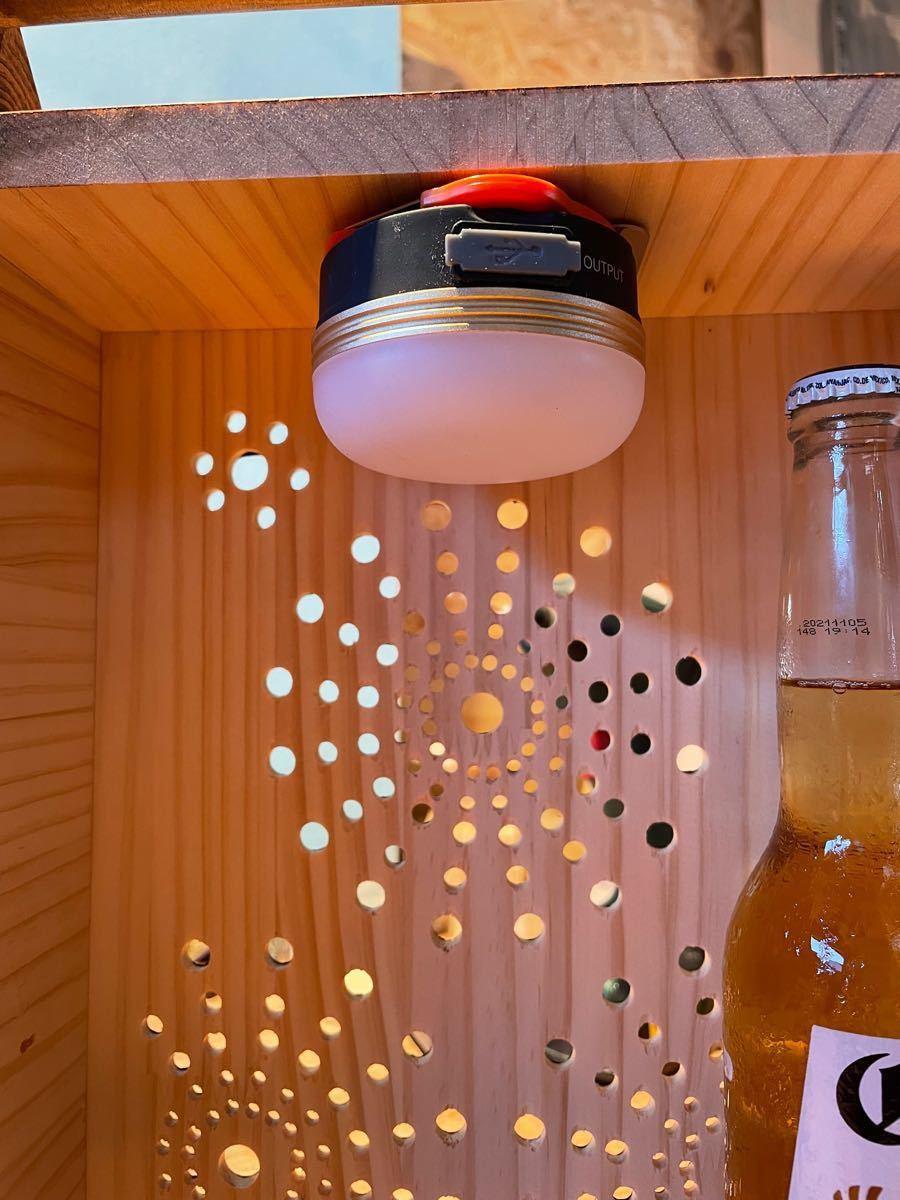 キャンプアウトドア食卓調味料スパイスボックス花火柄灯籠バンクシーワンポイント柄入 多目的収納ボックスお洒落持手 ブライワックス仕上