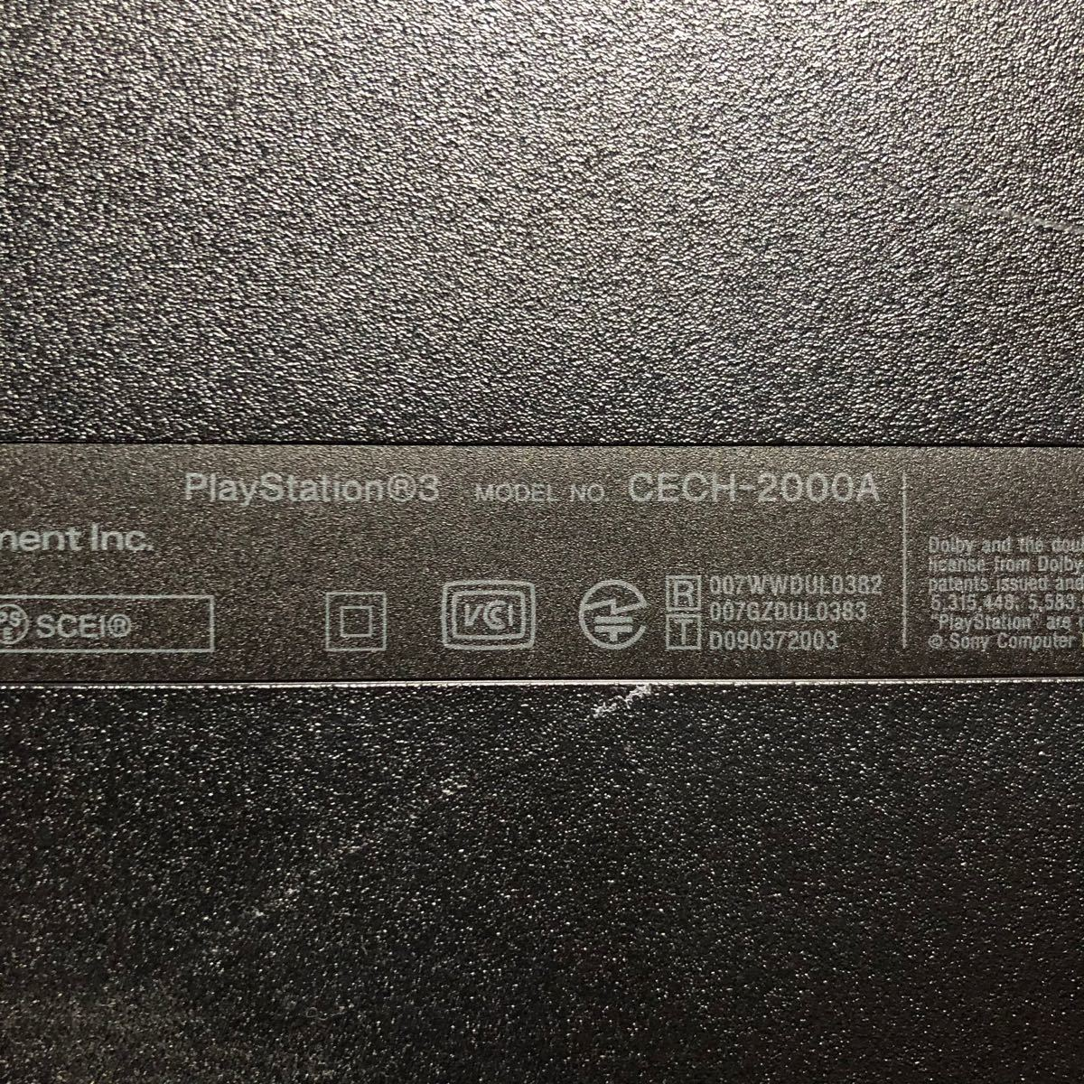SONY PlayStation CECH-2000A プレイステーション3 PlayStation3 PS3 PS3本体