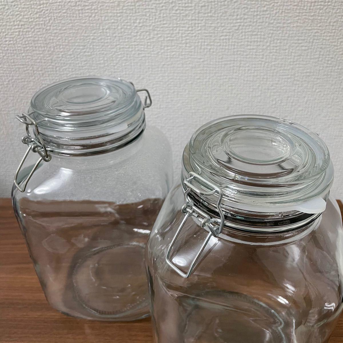ガラス瓶 蓋付き 大 梅酒瓶 果実酒瓶 アンティーク 梅酒レードル 瓶