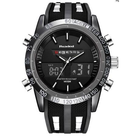 【未使用】高級ブランド腕時計 男性用スポーツ腕時計 防水 LED デジタルクォーツメンズミリタリー腕時計 時計男性レロジオ_画像3