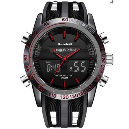 【未使用】高級ブランド腕時計 男性用スポーツ腕時計 防水 LED デジタルクォーツメンズミリタリー腕時計 時計男性レロジオ_画像4