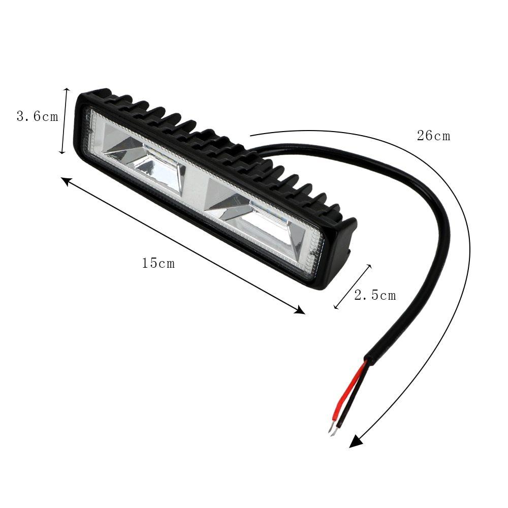 車 バイク トラック トラクター トレーラー オフロード 作業灯 36W スポット ライト 1個 LED ヘッドライト 12-24V 便利 アクセサリー_画像5