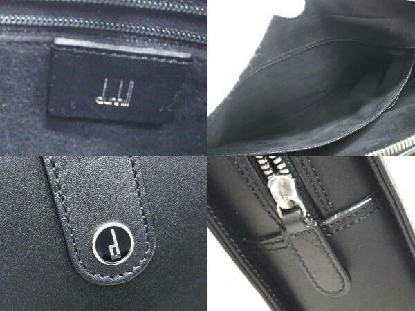Dunhill ダンヒル 0608P レザー ブリーフケース ビジネスバッグ ブラック 黒 メンズ_画像5