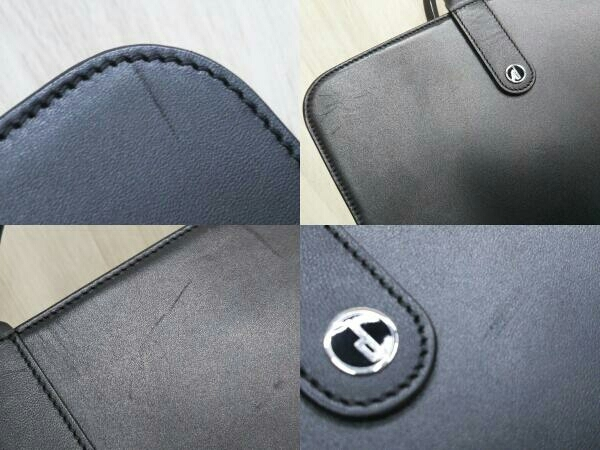 Dunhill ダンヒル 0608P レザー ブリーフケース ビジネスバッグ ブラック 黒 メンズ_画像7