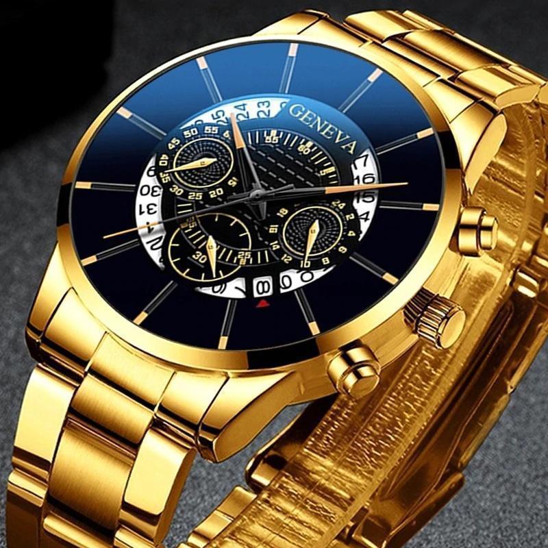 2020 男性の高級時計リロイhombreレロジオmasculinoステンレス鋼カレンダークォーツ時計メンズスポーツ腕時計ジュネーブ時計 WCYB691_画像4