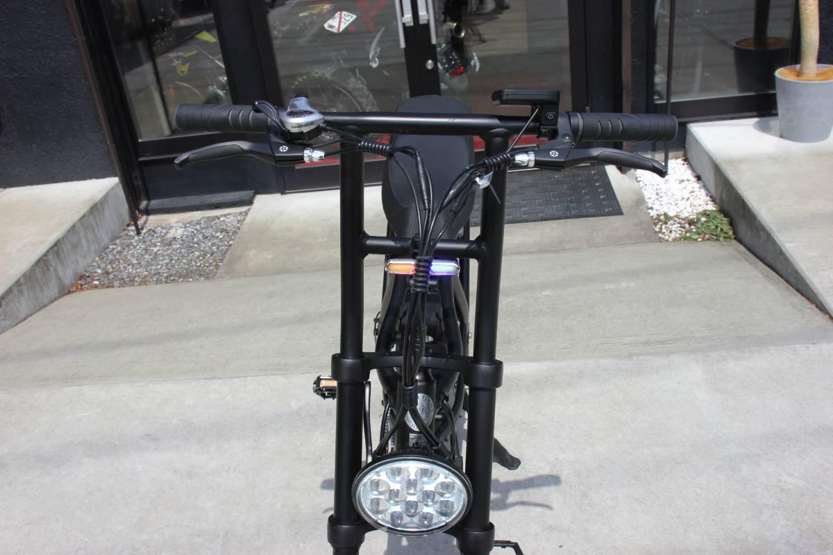 ●新品購入後 走行100m程度の中古品● 電動アシスト自転車 ファットバイク ★ ROCKAFLAME MAKAMI ★ Eバイク e-bike ダブルシート!! _画像5
