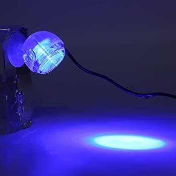 ブルー 100-240V 水槽ライト アクアリウムライト 水槽用照明 LED水槽ライト 1W 省エネ 観賞魚 熱帯魚 水草育成 _画像3