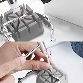新品JTENG 腕時計工具セット 時計修理工具セット 電池交換 ベルト サイズ調整 ミニ精密ドライバー付き 収納ケー1SJQ_画像5